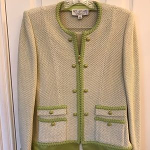 St. John Collection pale green two-piece suit 4
